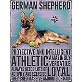 German Shepherd Tin Sign 30x40cm