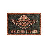 Star Wars Yoda Welcome You Are Door Mat 60x40cm