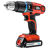 BLACK+DECKER Combi drill 10mm keyless chuck 18v EGBL188K