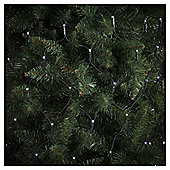 160 Battery Operated LED Multi-function Christmas Net Lights, White