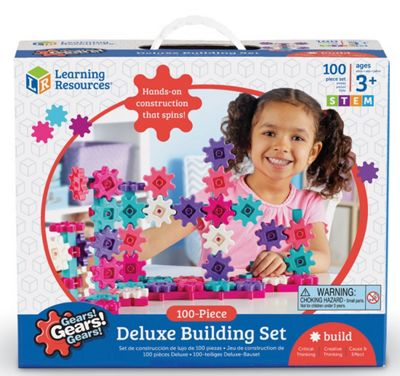 Learning Resources Gears! Gears! Gears! Deluxe Pink Building Set