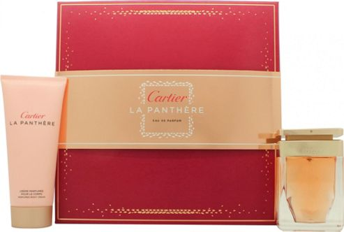 Cartier La Panthere Gift Set 50ml EDP + 100ml Body Lotion For Women