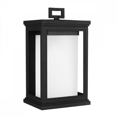 Textured Black Medium Wall Lantern - 1 x 75W E27