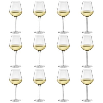Bormioli Rocco Inalto Uno Small Wine Glass - 380ml - Pack of 12 Drinking Glasses