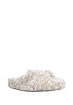 F&F Fluffy Bear Mule Slippers - Brown