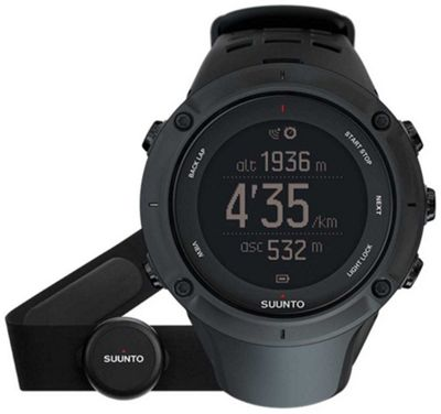 Suunto Ambit3 Peak Black + HR Explorer GPS Watch