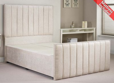 Luxan Hampstead Light Colours Bed Set - Cream - Double 4ft6 - 4 Drawers
