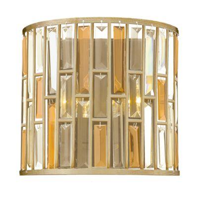 Silver Leaf 2lt Wall Light - 2 x 60W E14