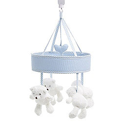 OBaby B is For Bear Musical Mobile - Blue
