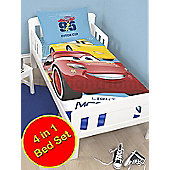 Disney Cars 3 Lightning 4 in 1 Junior Bedding Bundle Set