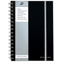 Pukka Pad A5 Poly Jotta Notebook 160 Pages Ruled Feint Black SBJPOLYA5