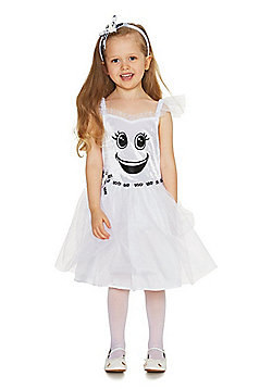 F&F Ghost Tutu Halloween Costume - White