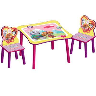 Delta Children Disney Paw Patrol Table And Chairs - Pink