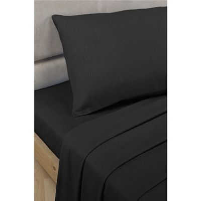 Rapport 16 Inch Extra Deep Black Fitted Sheet - Single