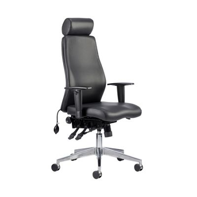 Onyx Ergo Posture Chair Black Bonded Leather