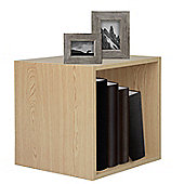 Christow Wooden Storage Cube 30cm (Light Oak)