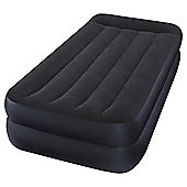 Intex Twin Pillow Rest Raised Fiber-Tech Airbed with Built-in Pump