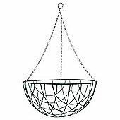 1 x 16-inch Green Metal Hanging Basket