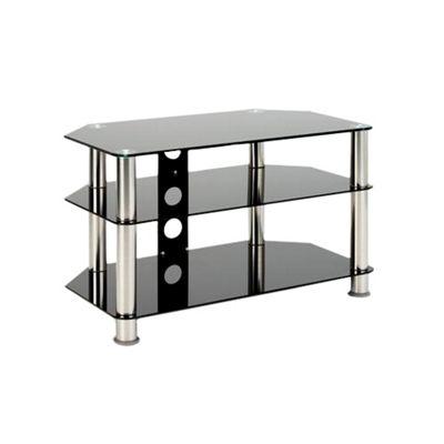 Universal LCD/LED/Plasma Black Glass 37 inch TV Stand