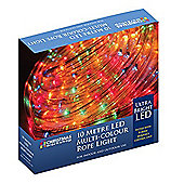 The Christmas Workshop Xmas 10 m LED Rope Chaser Lights, Multi-Coloured