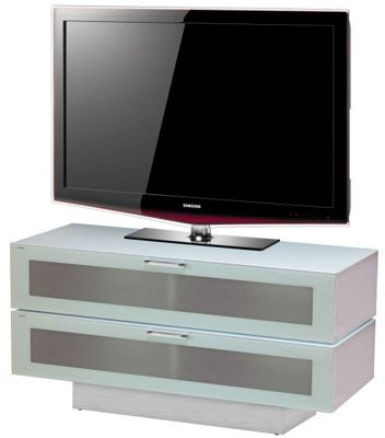Stil-Stand High Gloss White 2 Tier TV Cabinet for up to 50 inch TVs