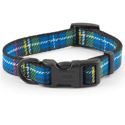 Ancol Tartan Adjustable Collar - Blue - 45cm-70cm