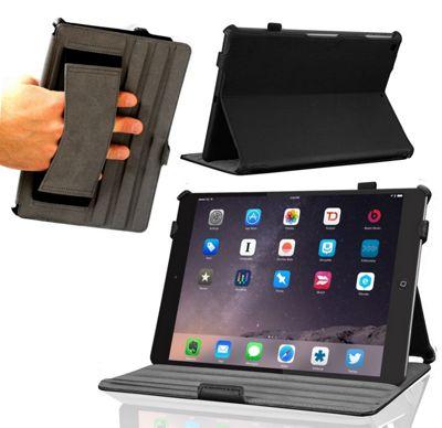 Navitech Black Multi Stand Faux Leather Case Cover Sleeve for iPad Pro 2 9.7