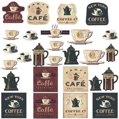 Kitchen Wall Stickers - Coffee House