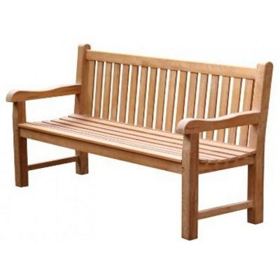 Oval Backed Teak Garden Bench - 180cm