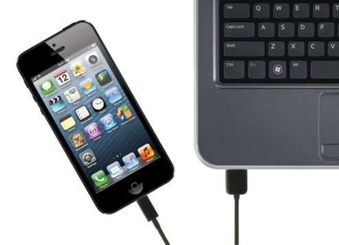 Kit Data & Charge Cable with Lightning Connector for iPad/iPad Mini/iPhone 5 - Black