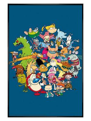 Gloss Black Framed Nickelodeon Group Poster 61 x 91.5cm