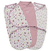Summer Infant 3 Pack Swaddle, Secret Garden
