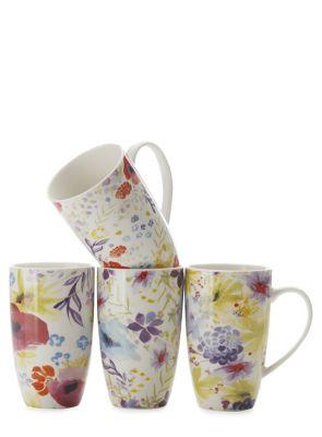 Maxwell Williams Petal Perfume Set of 4 Mugs 420ml XF115