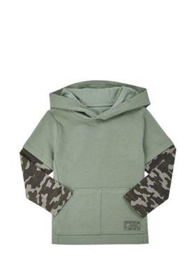 F&F Camo Sleeve Hoodie Khaki 5-6 years
