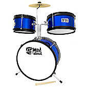 3 Piece Junior Drum Kit - Drum Set for Kids in Blue