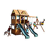 Selwood Hero Climbing Frame - Swings, Slides & Lower Playhouse