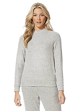 F&F Brushed Marl High Neck Sweatshirt - Grey