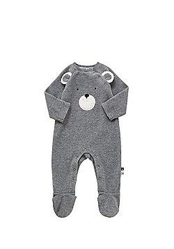 F&F Bear Face Fleece All in One - Grey