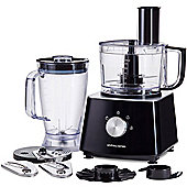 Andrew James Food Processor with Blender in Black