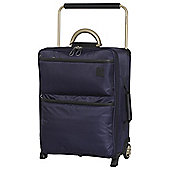 IT Luggage World's Lightest 2 wheel Small Evening Blue Suitcase