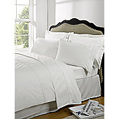 Dreamscene Highams 100% Egyptian Cotton Plain Dye Valance Sheet - White