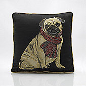 Alan Symonds Tapestry Pug Cushion Cover - 45x45cm