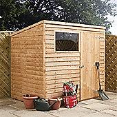 Overlap Pent Shed Garden Wooden Shed