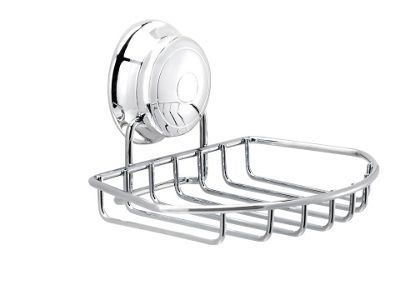 Croydex Qm341941 Twist Lock Soap Dish Chrome