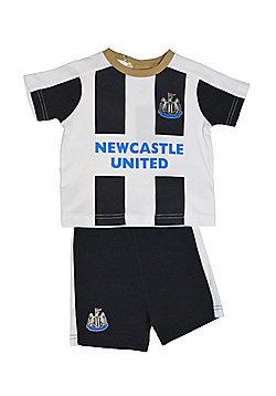 Newcastle United Baby Kit T-Shirt & Shorts - 2016/17 Season - White & Black