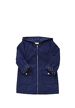 F&F Star Cuff Hooded Mac - Navy