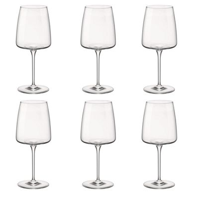 Bormioli Rocco Planeo Clear Stemmed Wine Glasses - 450ml - Pack of 6