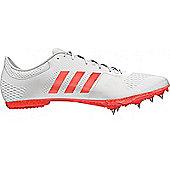 adidas adizero Middle Distance Track & Field Running Spike Shoe White - White