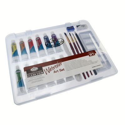 Royal Small Clear Case Art Sets - Watercolour Painting