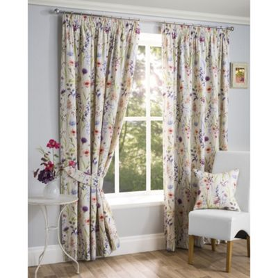 Totton Pencil Pleat Lined Curtains - 46x72 Inches (117x183cm)